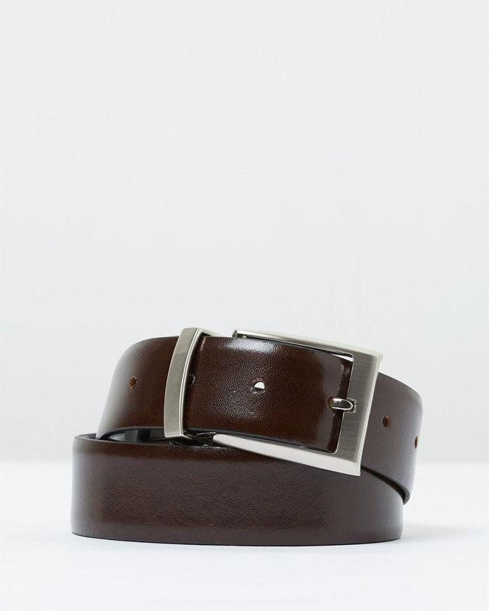 Picture of Loop Reversible Black & Brown 35mm Leather Belt