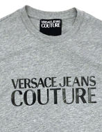 Picture of Versace Jeans Couture Logo Grey Slim T-Shirt