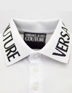 Picture of Versace Jeans Couture Logo Slim Fit White Polo