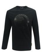 Picture of Versace Medua Embossed Black LS T-shirt