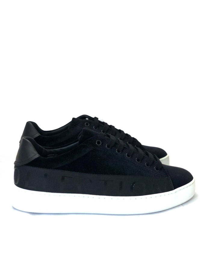 Picture of Versace Logo Tape Velvet Sneakers