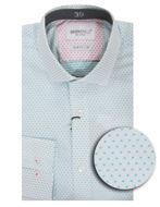 Picture of Brooksfield Aqua Dobby Slim Shirt