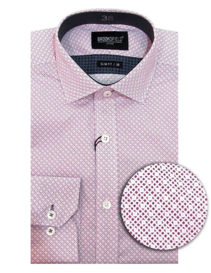 Picture of Brooksfield Pink Luxe Geo Print Shirt