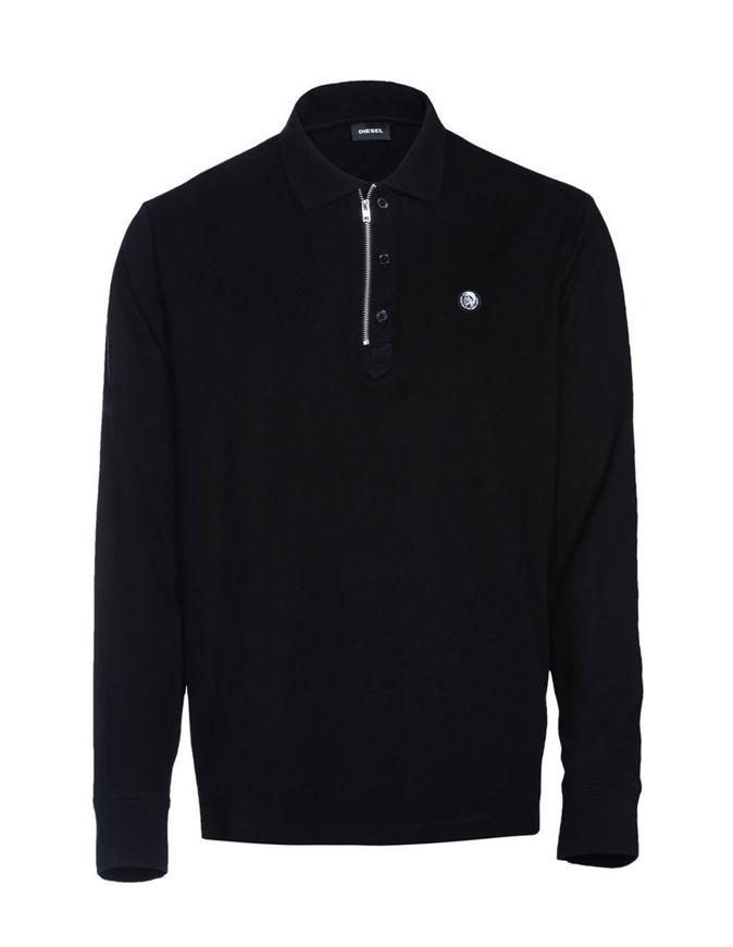Picture of Diesel Black T-HART Zip L/S Polo
