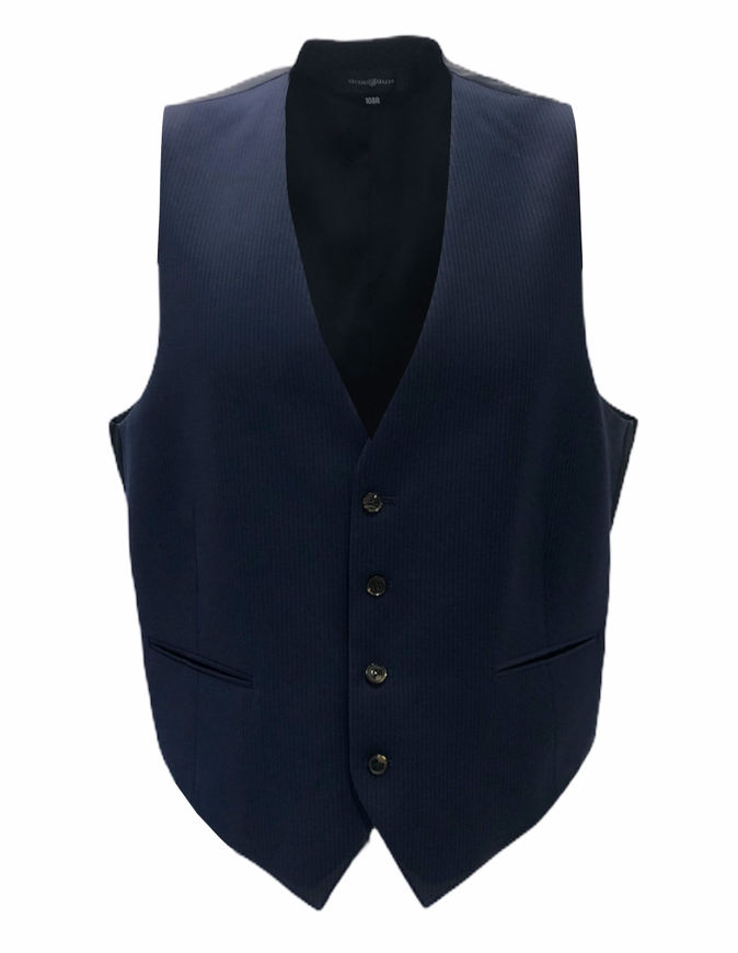 Picture of Studio Italia Blue Pinstripe Vest