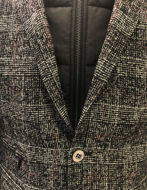 Picture of Karl Lagerfeld Zip Inner Grey Check Blazer