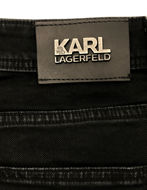 Picture of Karl Lagerfeld Washed Denim Stretch Black Jean