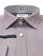 Picture of Brooksfield Wine Dots Stretch Real Shirt