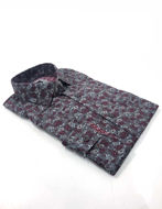 Picture of Brooksfield Grey Floral Print Luxe Shirt