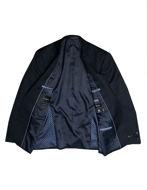 Picture of Studio Italia Navy Shadow Check Slim Suit
