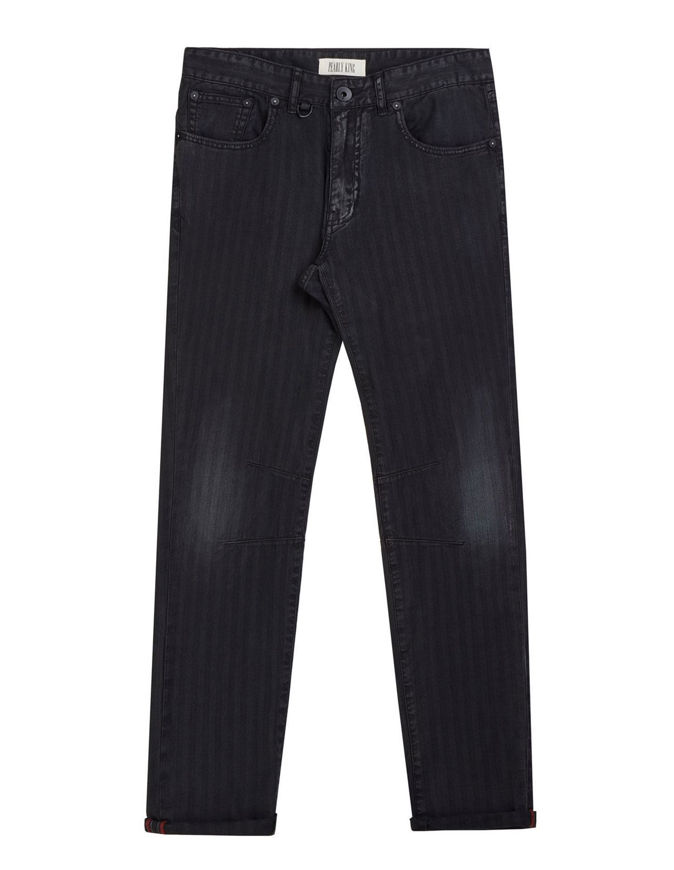 Picture of Pearly King Helmut Dark Washed Stripe Denim Jean
