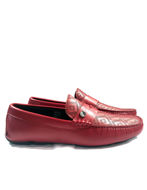 Picture of Versace Collection Greca Embossed Red Loafer