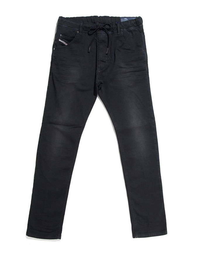 Picture of Diesel Krooley Black Wash Jogg Jeans