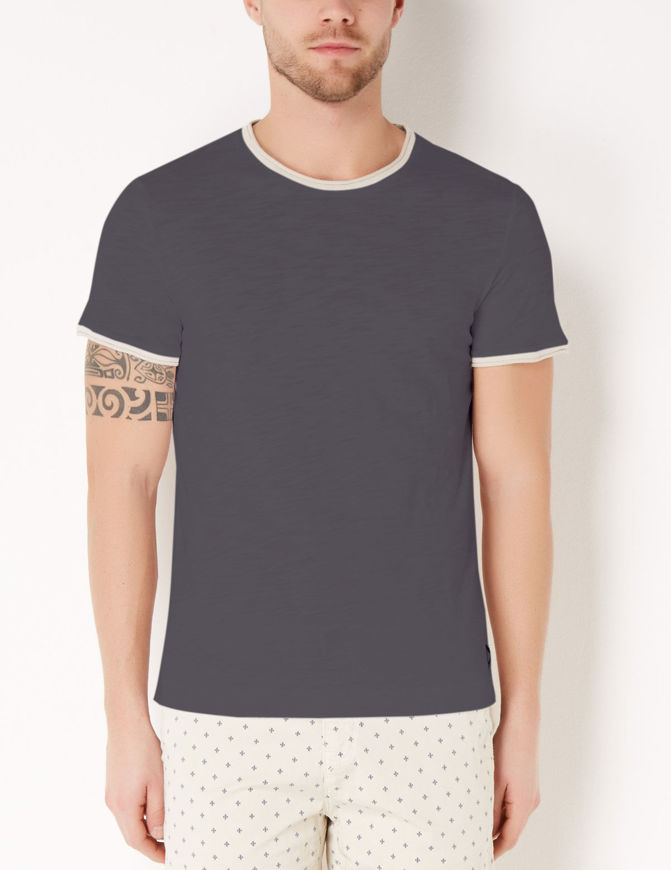 Picture of Gaudi Neck & Sleeve Detail Tshirt