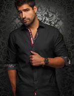 Picture of Au Noir Vasquez Black Check Shirt