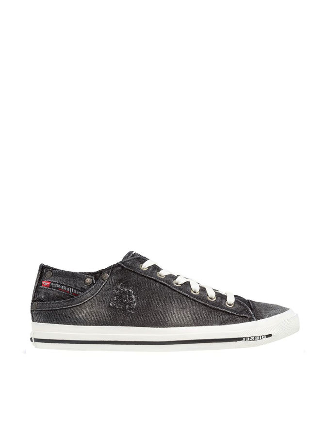 Picture of Diesel Low Exposure Washed Denim Sneaker