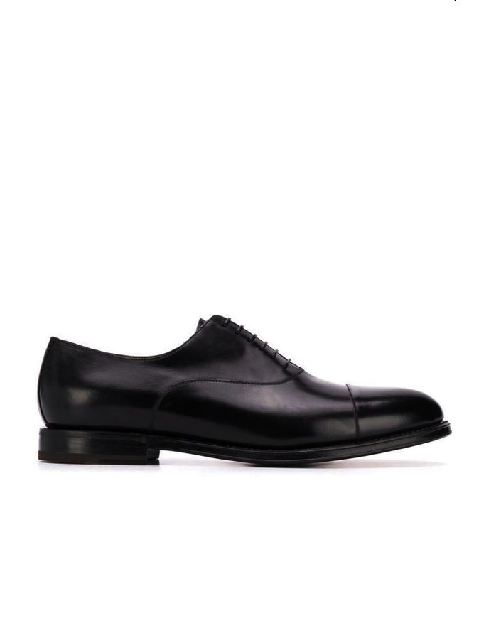 Picture of Cutler Lace-up Toecap Black Shoes