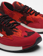Picture of Diesel S-KBY Red Camo Lace Sneakers