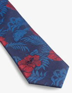 Picture of Ted Baker Floral Weave Navy Silk Tie