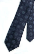 Picture of Ted Baker Tile Motif Navy Silk Tie