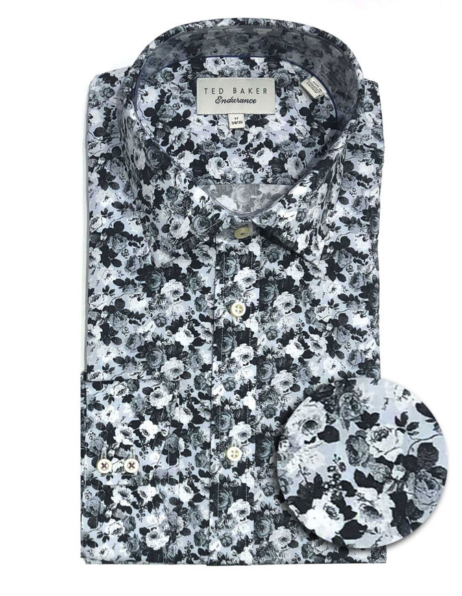 Picture of Ted Baker Endurance Floral Sterling Shirt