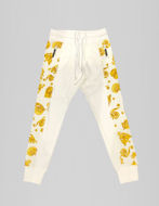 Picture of Versace White & Gold Jewel Baroque Sweatpants