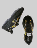 Picture of Versace Xtreme Black & Gold Barocco Sneakers