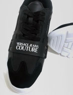 Picture of Versace Black Speed Logo Sneakers