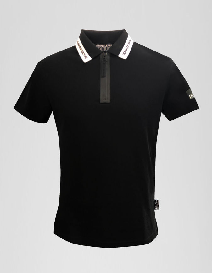 Picture of Versace Jeans Couture Black Logo Details Polo - For IVAN