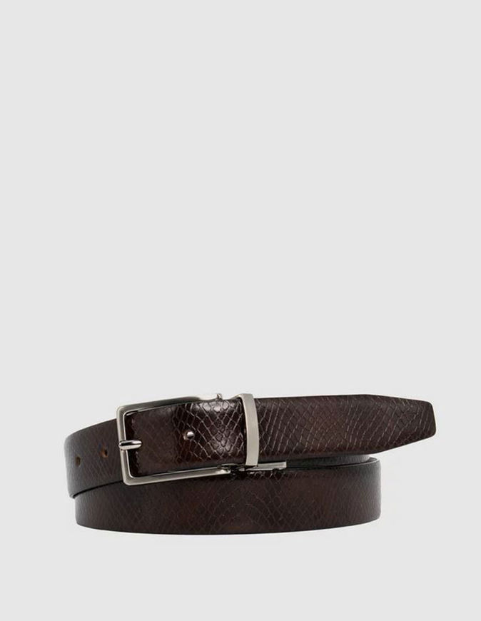 Picture of Loop Reversible Snake 30mm Leather Belt