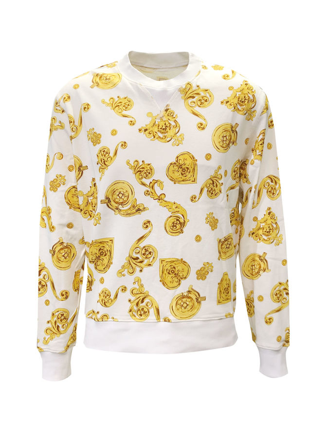 Picture of Versace Jeans Couture Jeweled White Sweat