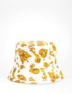 Picture of Versace Jeans Couture Jewel Baroque White Bucket Hat