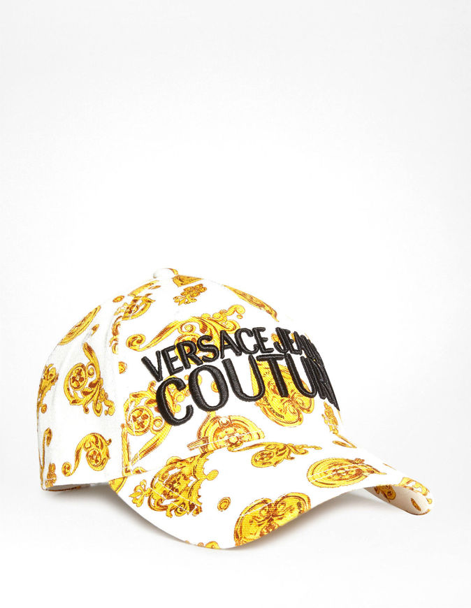 Picture of Versace Jeans Couture Jewel Baroque White Cap