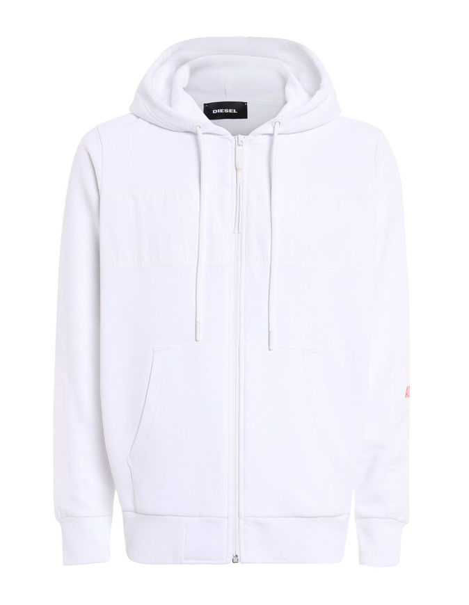 Picture of Diesel Diex Hood White Sweat Jacket