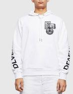 Picture of Diesel Girk Hood White Sweat Shirt