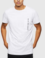 Picture of Diesel White T-Rubin Pocket T-shirt