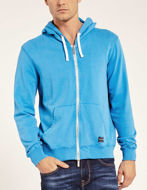 Picture of Gaudi Blue Zip-up Hoody Sweatshirt