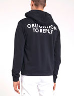Picture of Gaudi Black Zip-up Hoody Sweatshirt