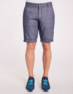 Picture of Gaudi Navy Cotton-Linen Shorts