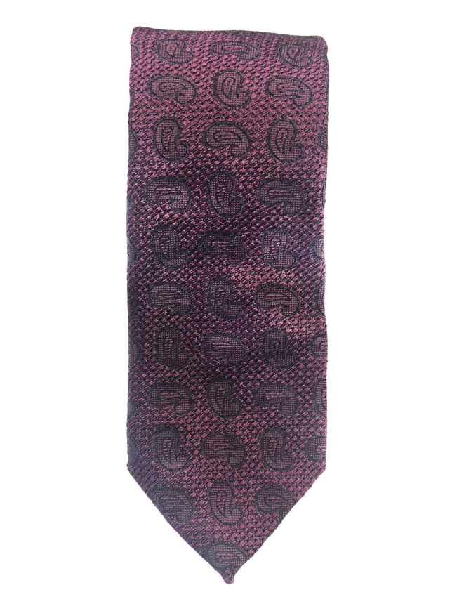 Picture of Ted Baker Purple Paisley Weave Silk Tie