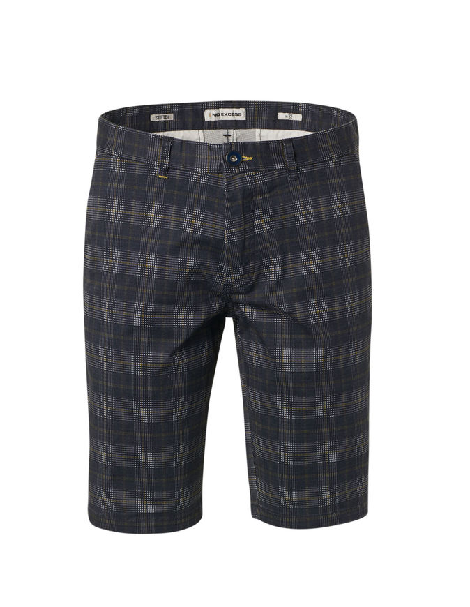 Picture of No Excess Check Stretch Shorts