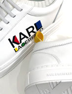Picture of Karl Lagerfeld Logo White Sock Trainer