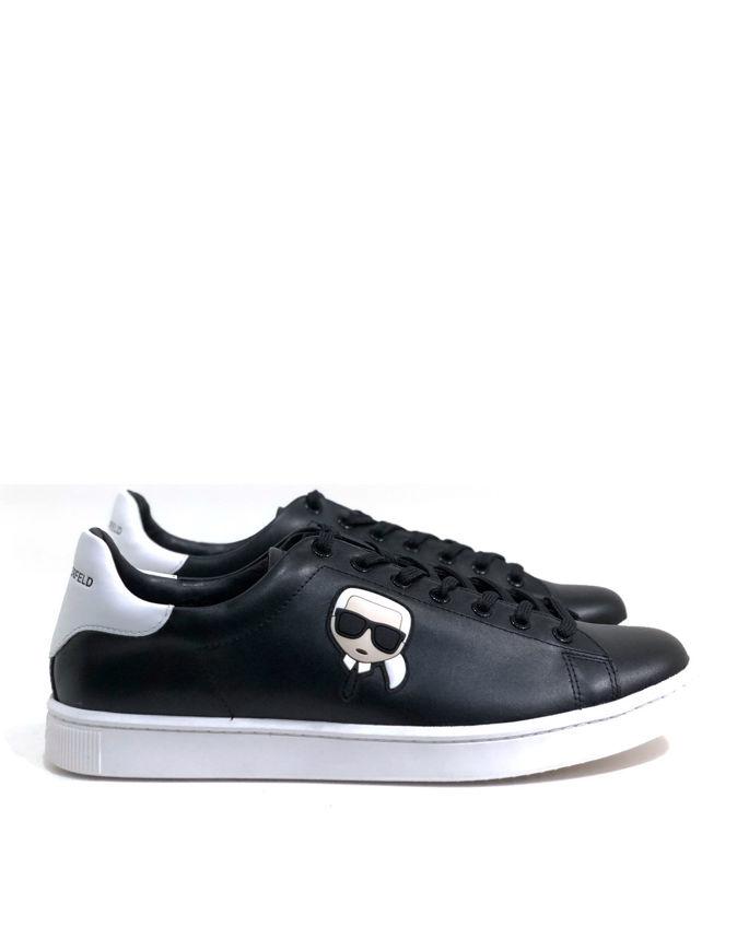 Picture of Karl Lagerfeld Ikonik Laceup Black Sneaker