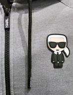 Picture of Karl Lagerfeld Neoprene Ikonik Hood Sweat Jacket