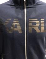 Picture of Karl Lagerfeld Logo Navy Zip Sweat Jacket