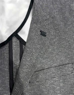Picture of Karl Lagerfeld Houndstooth Silver Blazer