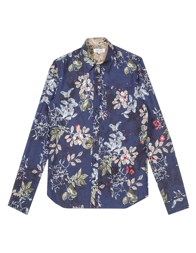 Picture of Pearly King Floral Print Navy Shirt