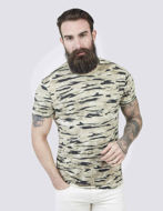 Picture of Pearly King Camo Print Khaki Tee