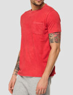 Picture of Replay Red Washed Pocket Tee