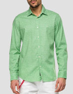 Picture of Replay Green Leaf Print L/S Shirt